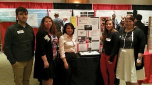Jessica (far right) and other WW students presenting at CURCA.